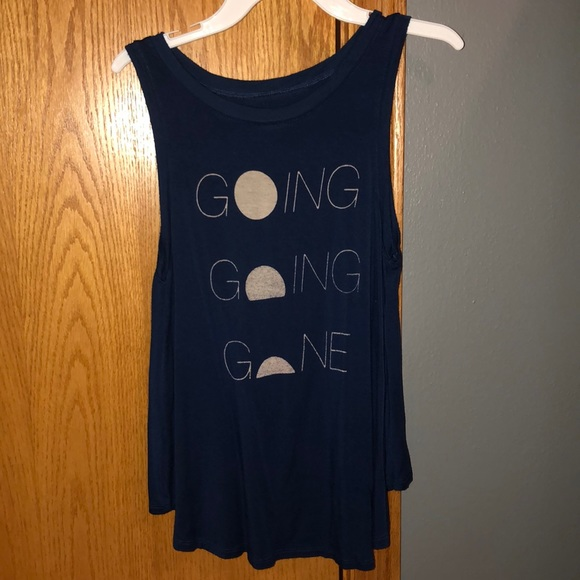 American Eagle Outfitters Tops - Dark blue American Eagle tank top